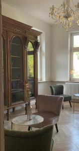 Een zitgedeelte bij Boutique Hotel Villa Horbach
