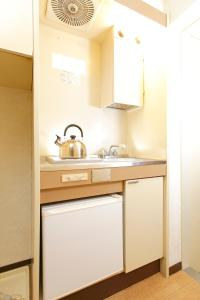 A kitchen or kitchenette at FLEXSTAY INN Nakanobu