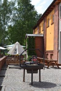Патио или другая зона на открытом воздухе в Pivovar Kocour