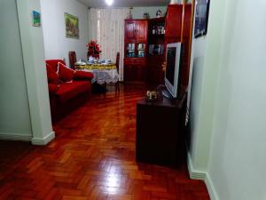 Uma área de estar em Rio Apartamento - Copacabana