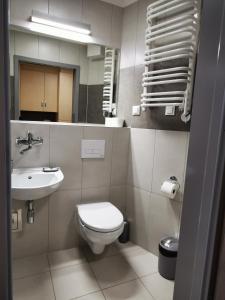 Kúpeľňa v ubytovaní Dom Studencki Zaułek