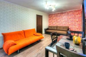 Гостиная зона в Flat Inn Moscow Profsoyuznaya metro Quiet & Cozy Apartments