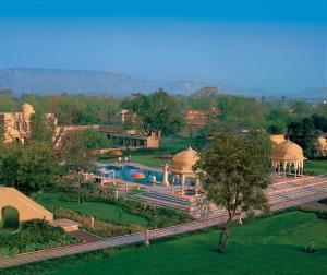 A bird's-eye view of The Oberoi Rajvilas Jaipur