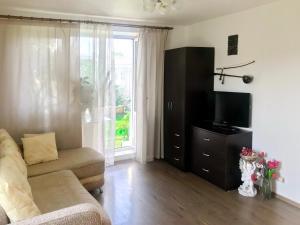 Телевизор и/или развлекательный центр в RentSpb Yellow Apartments near Metro