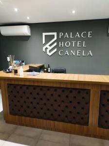 The lobby or reception area at Palace Hotel Canela