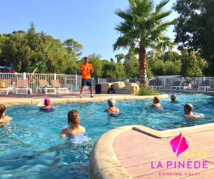 The swimming pool at or near Camping La Pinède