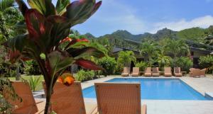 The swimming pool at or near Muri Beach Resort