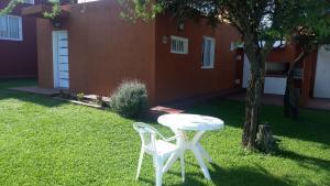 A garden outside Cabañas Luna del Sur