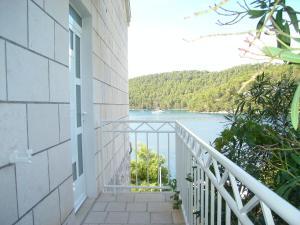 A balcony or terrace at Apartments & Rooms Villa Lucija