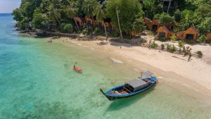 A bird's-eye view of The Cove Phi Phi