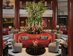 The lounge or bar area at One Aldwych