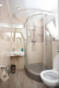 A bathroom at Yunost Hotel