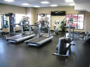 The fitness center and/or fitness facilities at Ramada by Wyndham Stettler