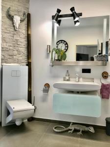 A bathroom at Pod Bykiem