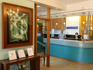 The lobby or reception area at Sea Cocoon Hotel