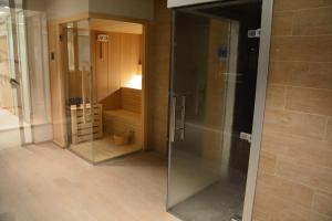 Een badkamer bij Hotel Helios Lloret