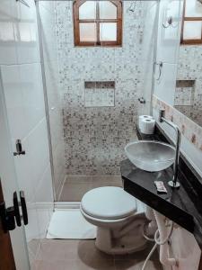 A bathroom at Pousada Mata Nativa