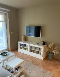 TV/Unterhaltungsangebot in der Unterkunft Auszeit am Lindenpark