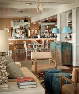 The lounge or bar area at The Tides Beach Club