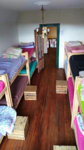 Una cama o camas cuchetas en una habitación  de Villa Margarita