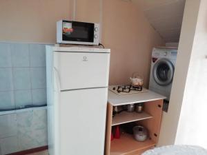 Кухня или мини-кухня в Apartment on Gagarina 26
