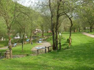 A garden outside Hotel Zum Pass