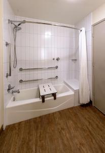 A bathroom at Best Western Seacliff Inn