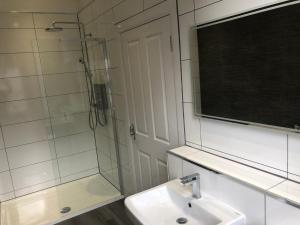 A bathroom at The Spinnaker Hotel