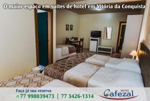 Cama ou camas em um quarto em Cafezal Palace Hotel