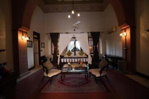 A seating area at The Laxmi Niwas Palace