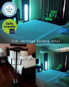 A bed or beds in a room at Siri Heritage Bangkok Hotel