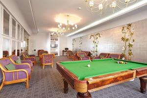 A billiards table at Hotel Madeira