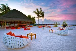 The swimming pool at or close to Kuramathi Maldives