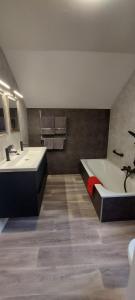 Een badkamer bij Hotel La Cascada
