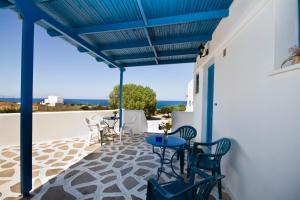 A balcony or terrace at Vrahia Studios