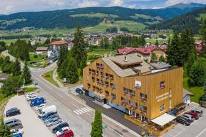 A bird's-eye view of Hotel Dolomiten