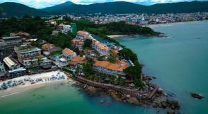 Uma vista aérea de Bombinhas Tourist Apart Hotel