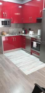 """Una cocina o zona de cocina en Apartamentos Turísticos """"El Jardín"""""""