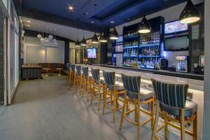 The lounge or bar area at SoHo 54
