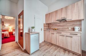A kitchen or kitchenette at Hotel Salvator