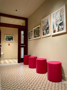 The lobby or reception area at Hotel Caravaggio