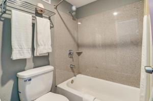 A bathroom at Budget Inn Top of Ellijay