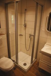 Ein Badezimmer in der Unterkunft Alpenhotel Bergzauber