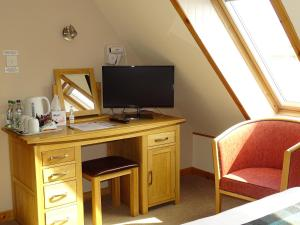 A television and/or entertainment center at The Sands Hotel, Orkney