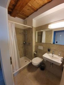 Ein Badezimmer in der Unterkunft Hotel und Restaurant zum Hirschen