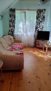 Кровать или кровати в номере Apartment on Lenina 7a