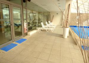 A balcony or terrace at Hotel Australis Yene Hue