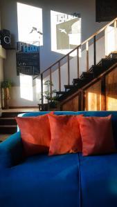 Un lugar para sentarse en Antarctica Hostel