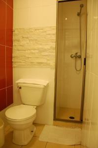A bathroom at Hotel Plaza Concepción