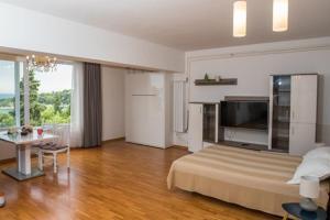 Télévision ou salle de divertissement dans l'établissement Villa Carmen Rooms & Apartments